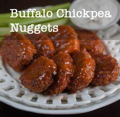 vegan snacks, chickpea nugget, buffalo wings, vegan recipes, gluten free