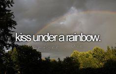 bucketlist, magic, double rainbow, buckets, rainbows, die, back porches, bucket lists, kisses