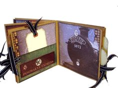 Harry Potter Paper Bag Scrapbook   Photo Album by apicketfencelife, $26.00