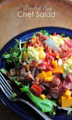 Deviled Egg Chef Salad