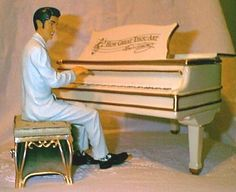 Elvis with Grand Piano Cookie Jar