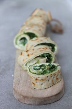 buckwheat pancakes   goat cheese, spinach, broccoli, zucchini, avocado oil, basil spread.