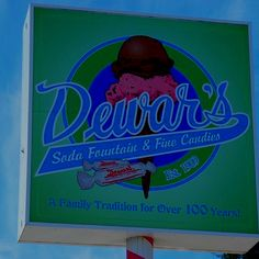 Dewar's: candies and ice cream parlor. Est. Bakersfield, Ca. I could reallllly go for a taste of home right now! :)