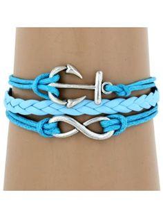 $3.60 Multi-Strand Infinity and Anchor Bracelet