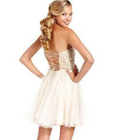 Speechless Juniors Dress, Strapless Sequin Corset - Juniors Prom Shop - Macy's