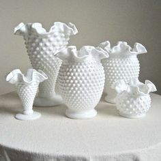 milk glasses hobnail #vases