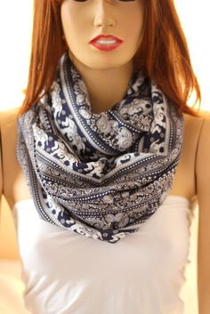 Elephants.. so soft  cotton infinity scarf. Loop by oceanscarf, $18.90