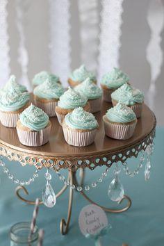 aqua mini cupcakes