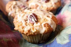Maple- Drizzled Apple Muffins