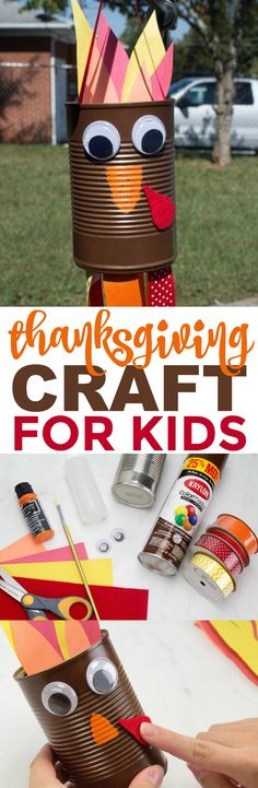 This is a tutorial for cute DIY Turkey Windsocks and they turned  out so great and can double as decor that your family will love. #diy #crafts #funprojects #diyideas  #craftprojects #diyprojectidea #teencraftidea #falldecor #fallcrafts  #diyfallideas #fall #autumn #Thanksgiving #friendsgiving #kidscrafts #kidcraftidea  #turkey