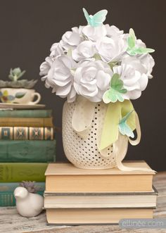 DIY paper rose bouquet home decor