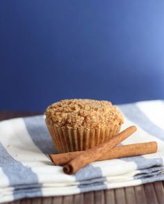 Coffeecake Muffins - These were pretty good! We used kefir instead of sour cream (didn't have any on-hand) and they were great. I'd take them to a brunch or serve them to guests. Very cute.