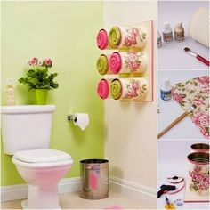 DIY – Towel Storage Idea From Cans