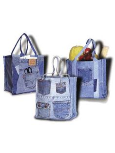 shop bag, purs, shopping bags, denim project, grocery bags, jean bag, bag patterns, tote bags, old jeans
