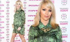Pregnant Katie Piper looks radiant in a shirt dress at Cosmo Awards 6 December 2013