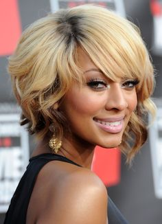 Keri Hilson ombre blonde bob is perfect!!! Alluring extremely! Find the similar color on #EvaWigs Style your own unique hairstyle! hair colors, short hair styles, short hairstyles, medium length haircuts, bob hairstyles, short bobs, blonde hairstyles, bang, bob haircuts