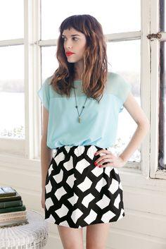 Pretty skirt + hair