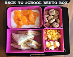 back to school bento box with fruit cups