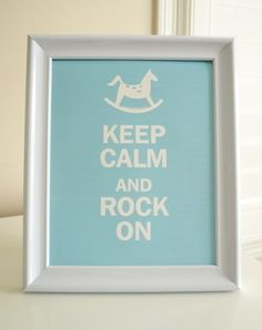 Love this saying for in the kid's room. I would have a guitar instead of a rocking horse tho & different colors