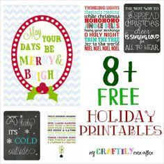 8+ Free Holiday Printables