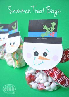 Free Printable Snowman Treat Bags