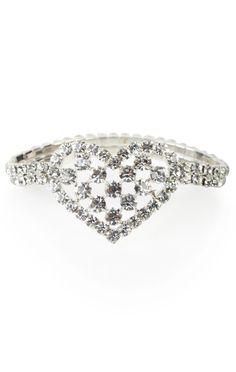 #silver rhinestone #heart bracelet   $9.37