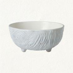 woodgrain footed bowl