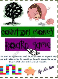 Counting Money Board Game!