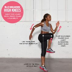 Warm up your muscles with high knee reps. #nikewomen #ntc