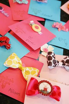 Baby Shower Activity (assuming the baby is a girl. lol) - A Hair Clip/Bow Making Station where there are supplies/embellishments for everyone to make a hair clip/bow for the baby.