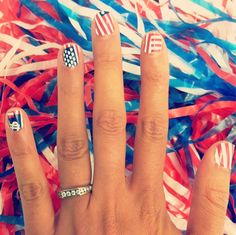 teen vogue, flags, 4th of july, beauti, patriotic nails, team usa, american flag3, country, american nail