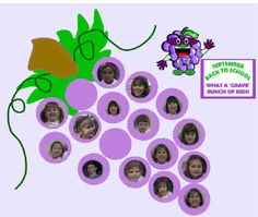 """What a Grape Bunch of Kids!""  Back to School Bulletin Board"