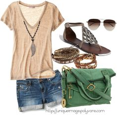 Summer Outfit: This is a cute outfit only wish I had cute legs to go with it.