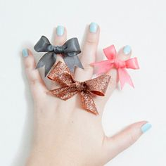 Finding the right gift can be a challenge. Make your life simpler and create these Darling Ribbon Bow Rings. Whether you use them as bridesmaids gifts, party favors, or holiday gifts, these dainty DIY rings are perfect for any occasion.