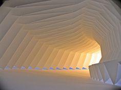 Paper sculpture installation