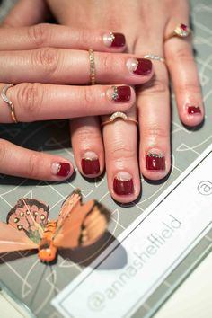 This is not your average bridal nail art!