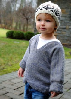 Easy Baby Pullover (free pattern at the Purl Bee)