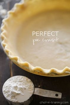 Perfect Pie Crust recipe from chef-in-training.com …This crust is easy to make and is super tasty!