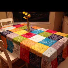 bandana tablecloth