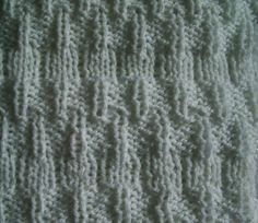 Easy knit stitch pattern - knitwise and purlwise - would make a nice waist detail on a reverse stockinette sweater