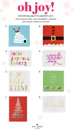#charmcolorfully jingle all the way with our collaboration with @Paperless Post . browse our holiday cards in our online and newly available paper collection (don't forget to order by december 16th!)