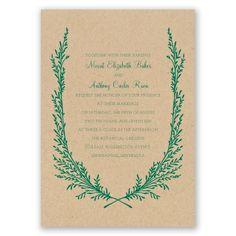 growing together I kraft paper wedding invitation