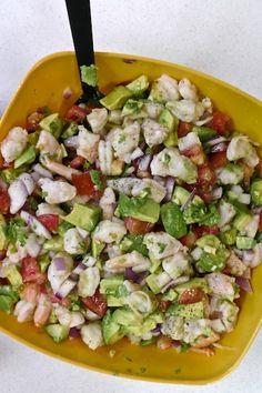 Paleo in a Food Desert: Zesty Lime Shrimp and Avocado Salad