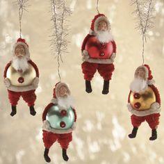 craft, balls, countri christma, bulb, ornament ball, glass ornaments, christma ornament, christmas trees, ador santa