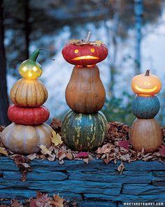 Too cute —Jack-o-lantern stacks.