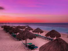 experience the shades of Cancun's sunsets...