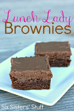 Lunch Lady Brownies (just like the ones you had at the school cafeteria growing up!) from SixSistersStuff.com