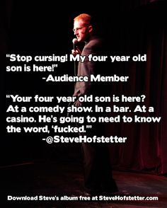 4-year-old at a comedy show