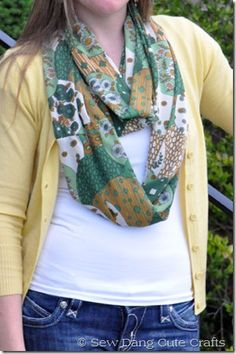 Easy Sewing Project: Spring Infinity Scarf