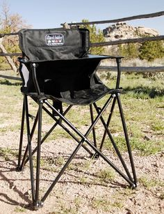 Lots of cute fold-up baby camping gear! Perfect high chair for the little dude!!